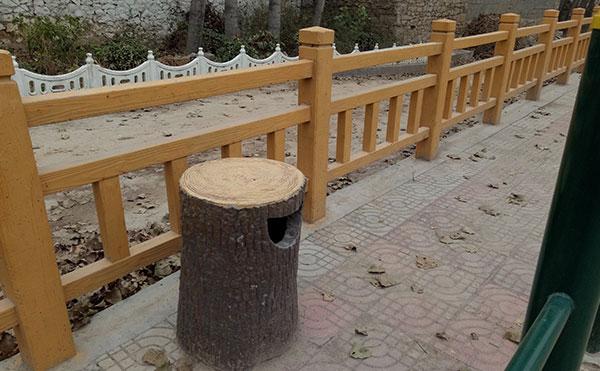 仿实木桥梁围网案例
